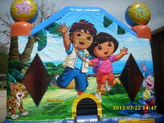 Dora and Diego -13Lx14Wx13H-