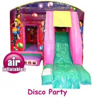 Disco Party castle and front slide