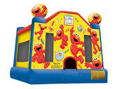 Elmos World Jumping castle  FOR AGES UP TO 12