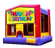 Happy B-Day Bounce House - Med