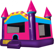 Pink and Purple Castle Bounce House (JSBH2)
