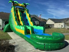 (d) 23 ft Tropical Rush Water Slide w/ POOL