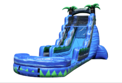 (e) 23ft Blue Crush Water Slide w/ POOL