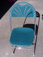 Chair Green Fan Back