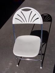 Chair White Fan Back