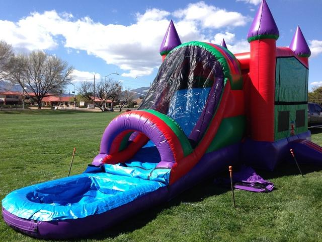 Deluxe 1Ln Combo Water Slide Obstacle