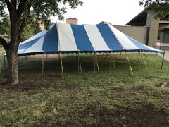 20ft x 40ft HP Tent Blue&White