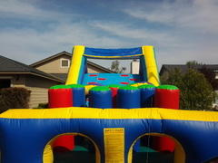 40 Foot Double Lane Obstacle Course w/Dry Slide