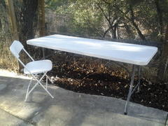 White 6 Foot Rectangle Fold Table