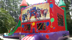 Super Hero Balloon Castle Dry