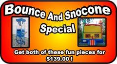 Bounce and Sno Cone Package