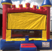 Red Blue Yellow castle bouncer