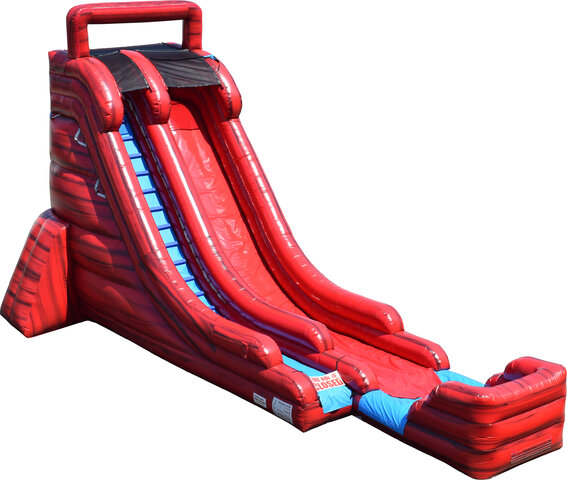 22FT Red Marble Single Lane Slide Dry or Wet