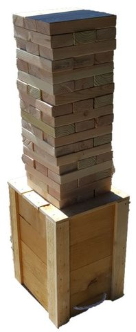 Giant Wooden Block Tower Game