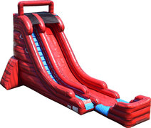 22FT Red Marble Single Lane Water Slide