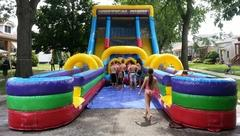 24'ft Vertical Rush Dual Lane Water Slide...............  1/2 DAY RENTAL