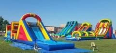 Combo Castles, Slides, Obstacle Courses, & Inflatable Climbing Wall