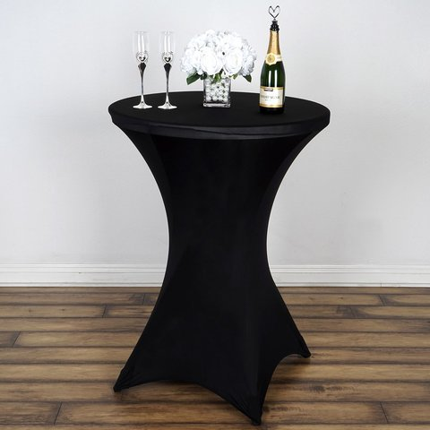 Black Spandex Bistro Tablecloth