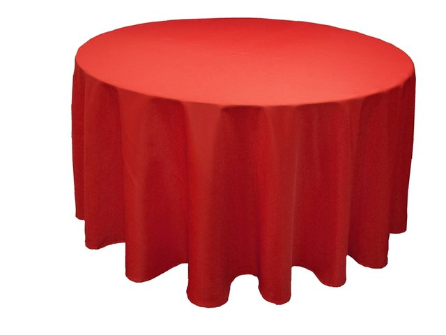 027 Red Round tablecloth 108 in.