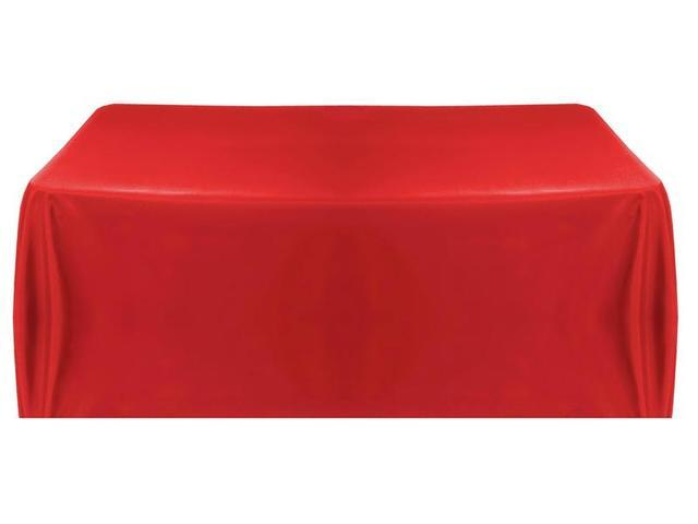 026 Red Tablecloth  6 foot