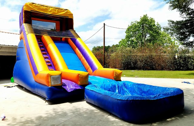 028 New Water Slide 25 feet tall with pool