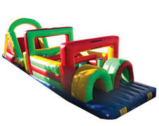 003 Obstacle Course with Slide 75 feet long