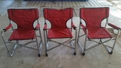 kids red lawn folding canvas chair