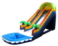 011 Tropical Slide One Lane 22 feet tall (no pool)