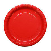 "Paper Plates 9"" assorted colors (red, blue, green, white, black, purple, pink & yellow) packages of 20 plates"