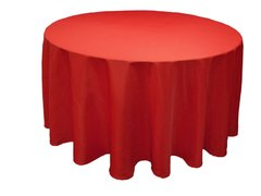 027 Red Round tablecloth 120 in.