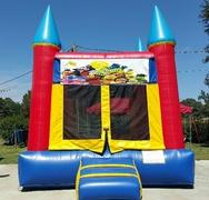 014 New Bounce House 15 x 15 with Banners (Happy birthday, Sports, Cars, Spiderman, Batman, Ninja Turtles, Power Rangers, Super Heroes, Mickey & Minnie, Mickey Clubhouse, Pokemon, Star Wars, Captain America, Trolls, Shopkins, Emojis, Sesame Street)