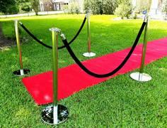Stanchions with black rope (pair of stanchions)