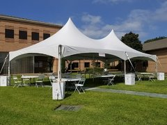 006 Tent 20 x 40 with eight tables, 80 chairs and eight tablecloths