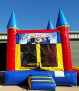 003 Bounce House with Characters Minions, Ninja Turtles, Super Heroes, Spiderman, Batman, Cars, Sesame Street, Mickey & Minnie, Mickey Clubhouse, Princess, Frozen & Sophia)
