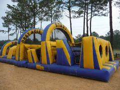 004 Obstacle Course Blue & Yellow 50 feet long