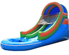 009 Water Slide/Pool Red Blue 1