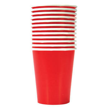 Paper party cups packages of 8 (assorted colors)