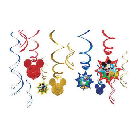 Disney Mickey Mouse Swirl Decorations
