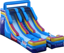 "<strong><span style=""color:#0000ff;"">15ft Double Splash Water Slide"