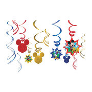"<strong><span style=""color:#0000ff;"">Disney Mickey Mouse Swirl Decorations"