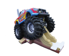 "<strong><span style=""color:#0000ff;"">Inflatable Monster Truck Combo (DRY USE)"