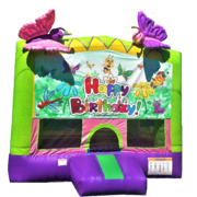 "<strong><span style=""color:#0000ff;"">Butterflies and Friends Bouncy House"