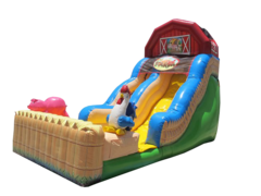 "<strong><span style=""color:#0000ff;"">18ft Funny Farm Inflatable Dry Slide"