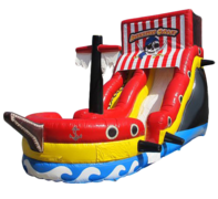 "<strong><span style=""color:#0000ff;"">18ft Pirate Ship Inflatable Dry Slide"