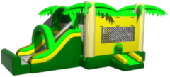 Tropical Bounce House Dry Slide Combo
