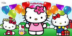 HELLO KITTY BANNER 13X13