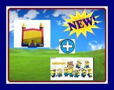 13 X 13 BOUNCE HOUSE WITH MINIONS THEME