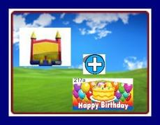 13 X 13 BOUNCE WITH HAPPY BIRTHDAY THEME