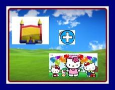13 X 13 BOUNCE HOUSE WITH HELLO KITTY BANNER THEME