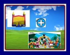 13 X 13 BOUNCE HOUSE WITH CLUBHOUSE THEME